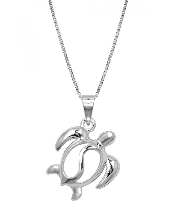 Turtle Sterling Silver Necklace Pendant