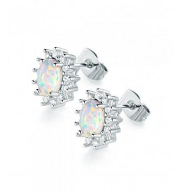 VOLUKA White Plated Earrings Zirconia