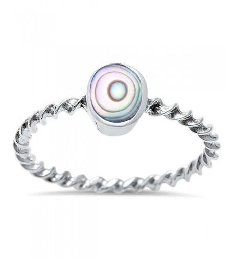 Sterling Silver Abalone Shell Twisted