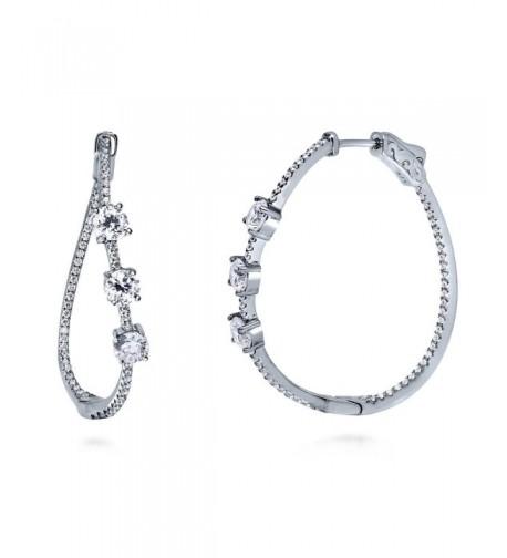 BERRICLE Sterling Zirconia Inside Out Earrings