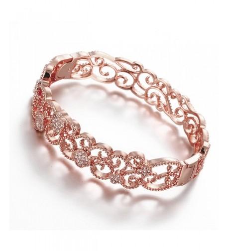 Hanie Carved Bangle Bracelet Crystal