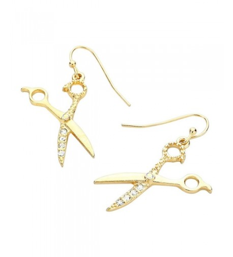 Liavys Scissors Fashionable Earrings Sparkling