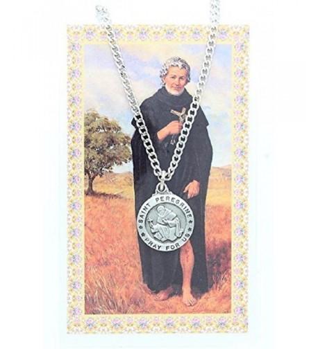 Pewter Peregrine Necklace Prayer Cancer