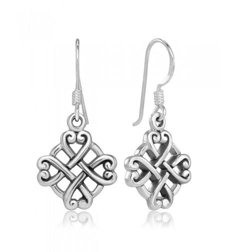 Sterling Silver Celtic Endless Earrings
