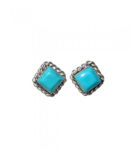 Stabilized Turquoise Earrings Original Zuni