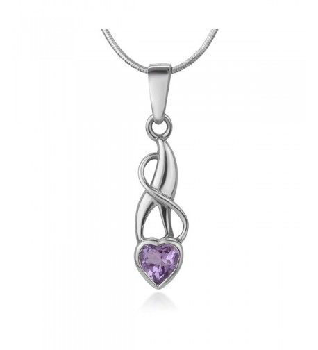 Sterling Amethyst Gemstone Endless Necklace