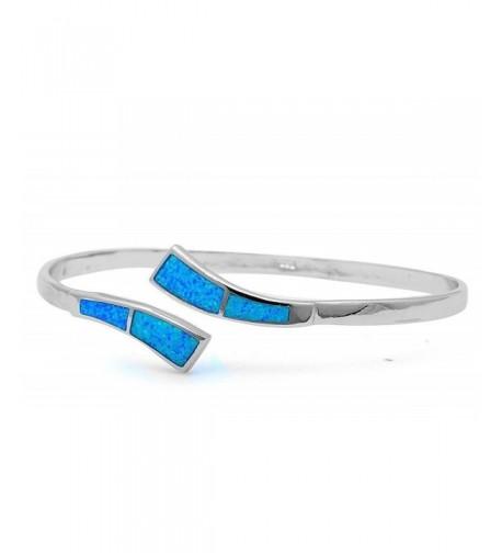 Created Sterling Silver Bangle Bracelets