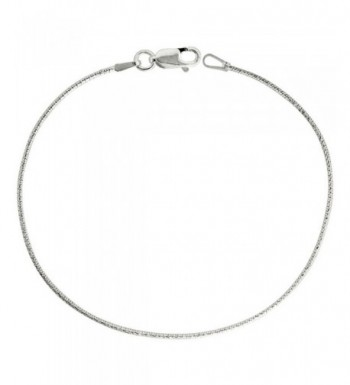 Sterling Silver Necklace Diamond Finish
