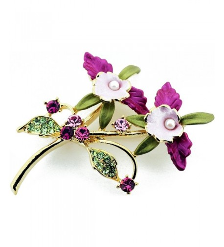 Multicolor Orchid Swarovski Crystal Flower