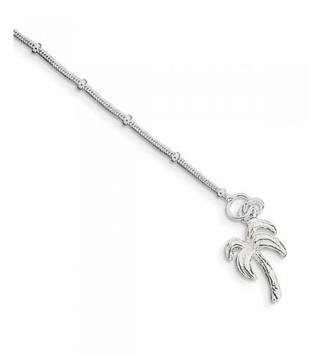 Sterling Silver Palm Anklet Length