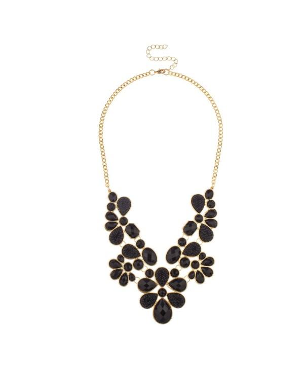 Lux Accessories Teardrop Statement Necklace