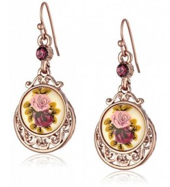 1928 Jewelry Flower Dangle Earrings