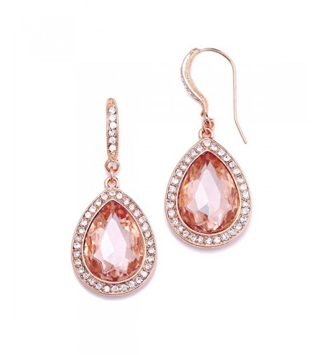 Mariell Blush Crystal Earrings Morganite