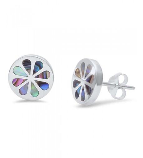 Earring Simulated Rainbow Sterling Earrings