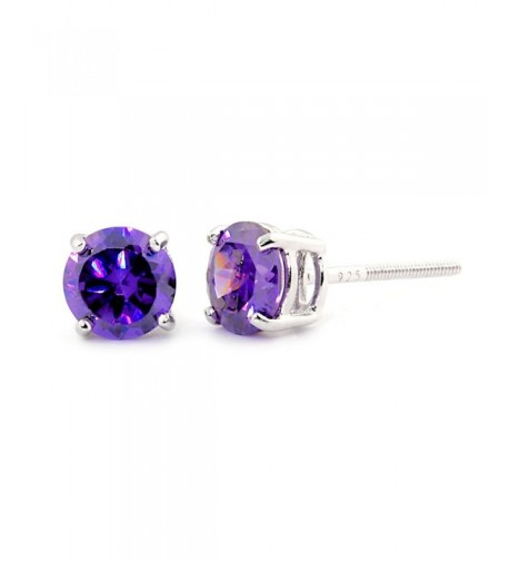 Pisces Brilliant Simulated Amethyst Earrings