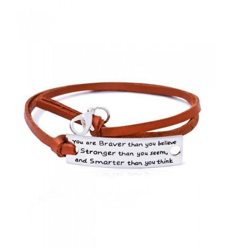 Resizable Leather Bracelet Stronger Inspiration