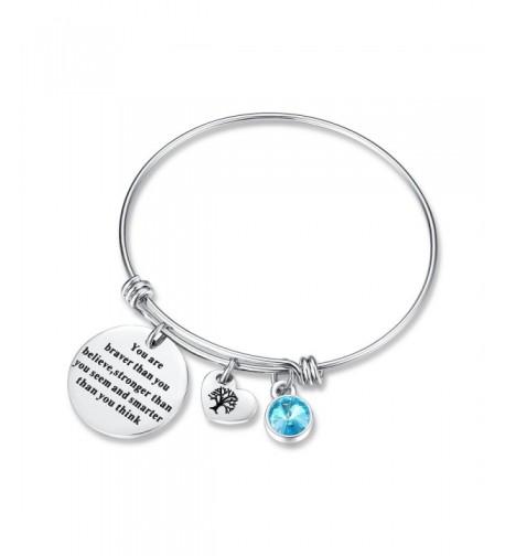 Birthstone Bracelet friendship christmas Aquamarine