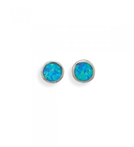 Synthetic Earrings Rhodium Sterling Silver