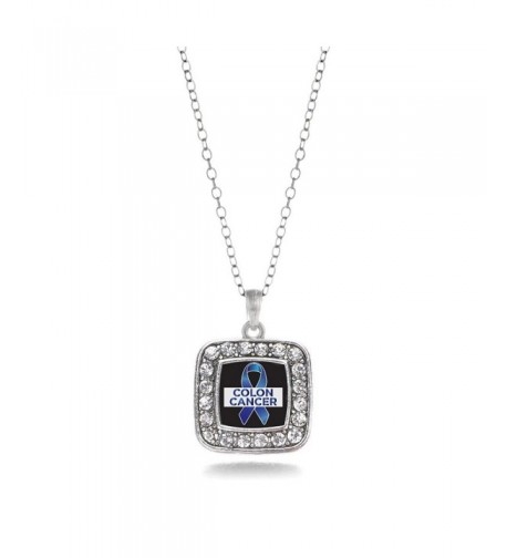 Awareness Classic Silver Crystal Necklace