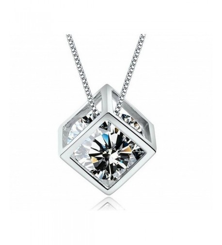 Shally Sterling Crystal Pendant Necklace