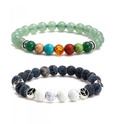 Angenca Bracelet Stretch Gemstone Wristband