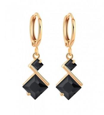 YAZILIND Plated Zirconia Charming Earrings