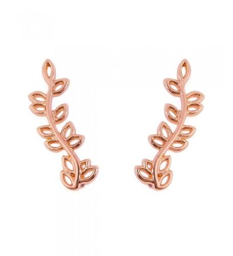 Fashion Womens Petal Crawler Earrings