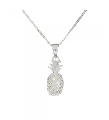 Sterling Silver Pineapple Necklace sterling silver