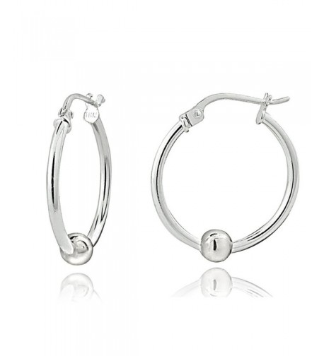 Sterling Silver Bead Round Earrings