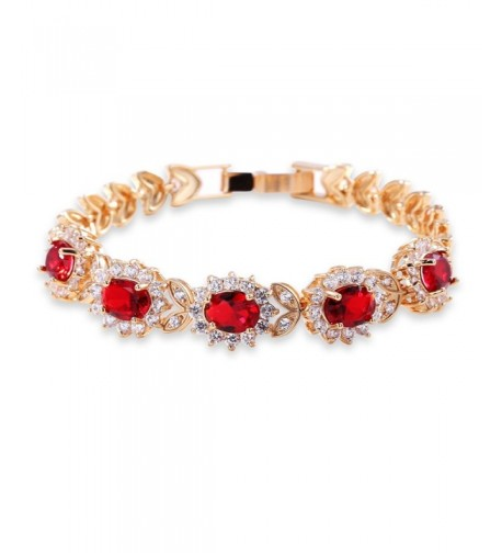 GULICX Flower Zirconia Crystal Bracelet
