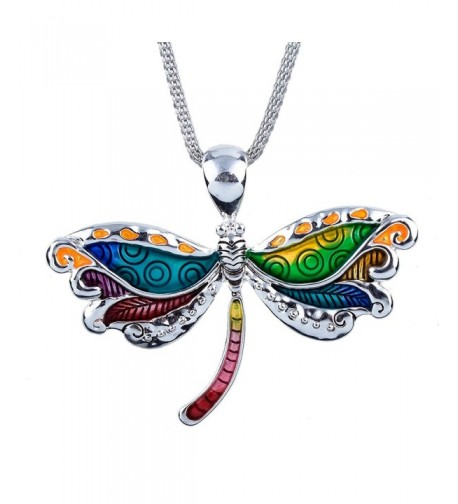 DianaL Boutique Colorful Enameled Dragonfly