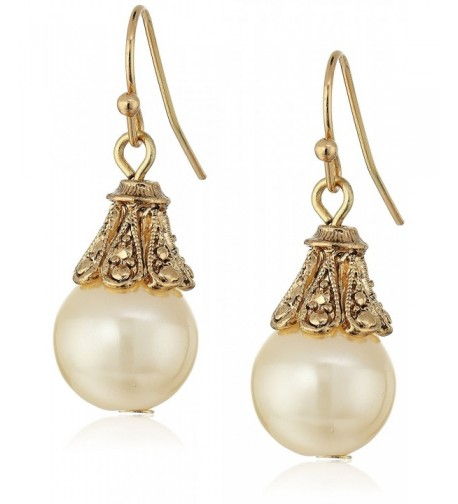 1928 Jewelry Gold Tone Simulated Earrings