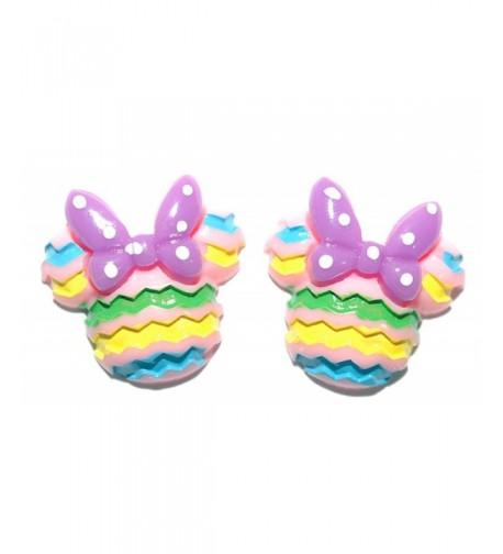 Easter Colors Mickey Earrings H020