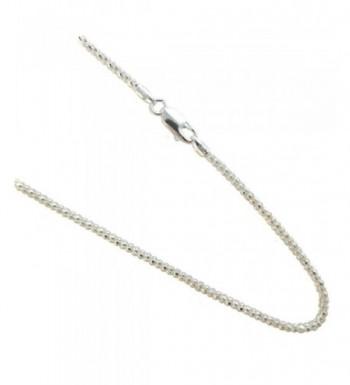 Pop corn Necklace Italian Sterling Silver