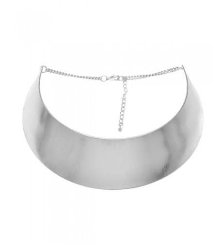 Spinningdaisy Cleopatra Choker Necklace Silver