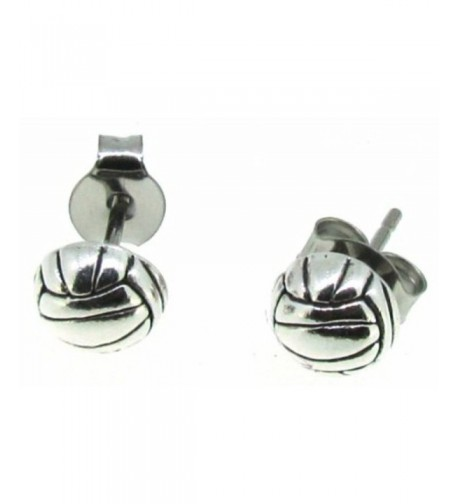 Sterling Silver Volleyball Earrings Posts