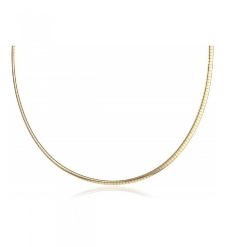 Italian 18K Gold Sterling Necklace Reversible