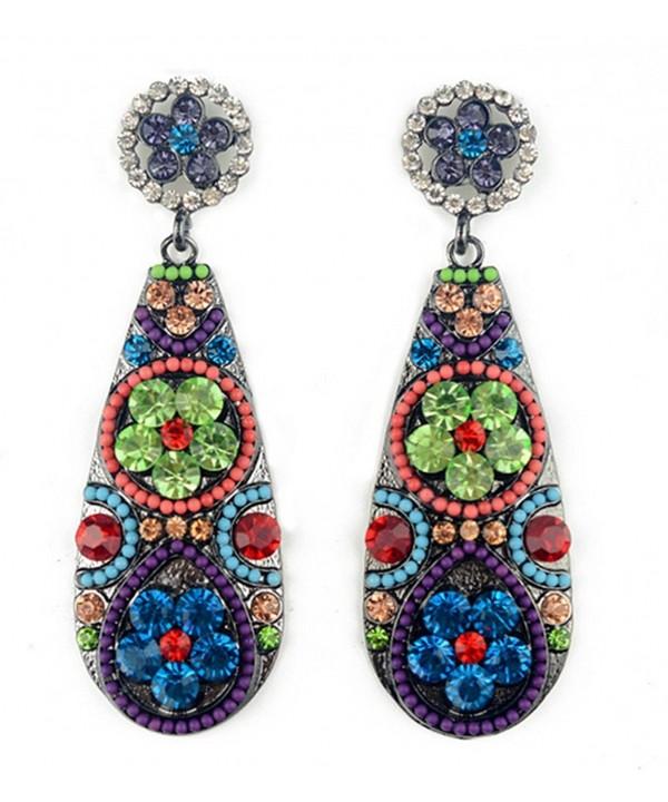 Jewellery Bohemian Earrings Teardrop colorful