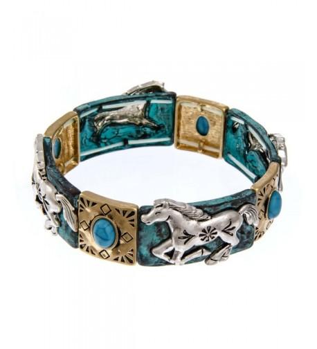PammyJ Tri Tone Imitation Turquoise Bracelet