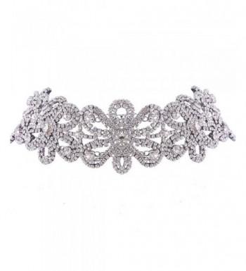 SDLM Silver Tone Austrian Crystal Necklace