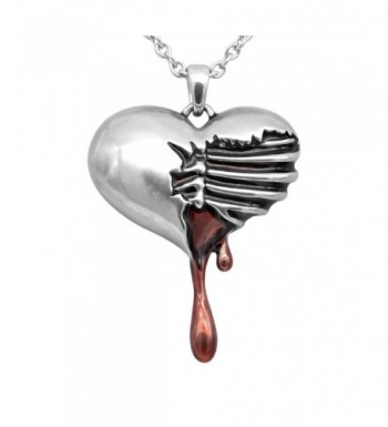 Controse Silver Toned Stainless Bleeding Necklace