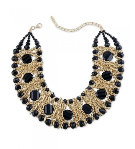Jewelry Gold Plated Crystal Statement Necklaces