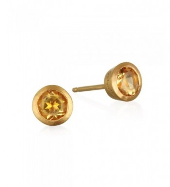Satya Jewelry Citrine Plate Earrings