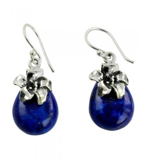 NOVICA Lazuli Sterling Silver Earrings