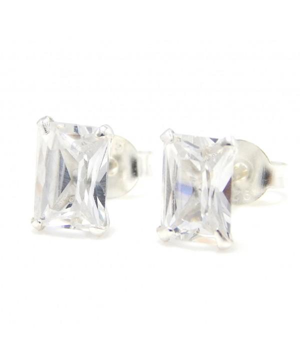 Pro Jewelry Sterling Rectangle Earrings