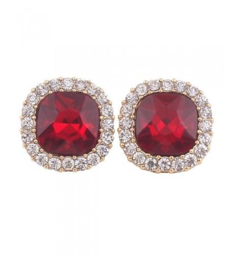 Grace Jun Rhinestone Earrings Piercing