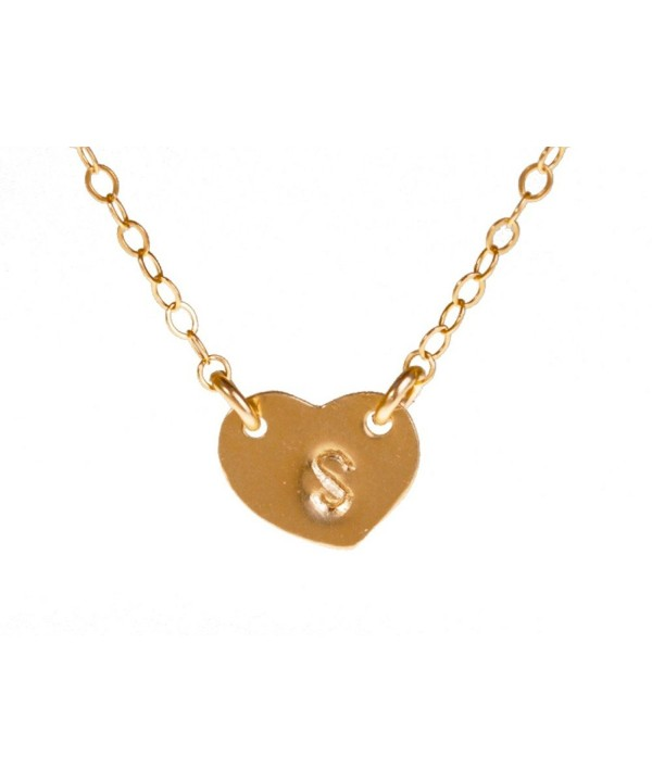 Filled Initial Necklace Personalized Monogram