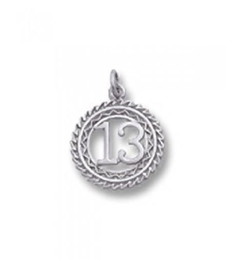 Number Sterling Charms Bracelets Necklaces