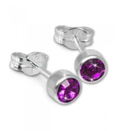 SilberDream earring Zirkonia Sterling SDO503V
