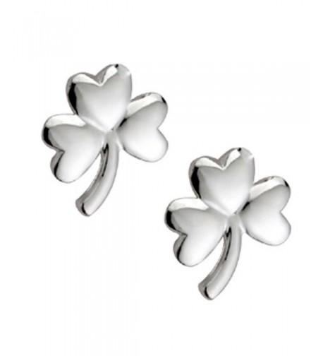 Hallmarked Sterling Silver Shamrock Earrings